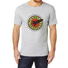 Loo Show Mens Futurama Planet Express Grey T-Shirt Tee