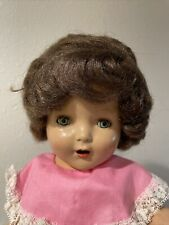 """17 in Vintage 1970's doll. plastic , new hair, """"skin� chipping on belly."""