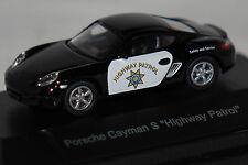 Porsche Cayman S Highway Patrol schwarz 1:87 Schuco neu + OVP 25390