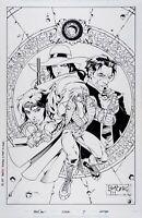 Matt Broome : Original Comic Art Cover Grifter #7 signed - Originalseite