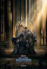 Black Panther Movie Poster (24x36) - Chadwick Boseman, Lupita Nyong'o, Gurira v1