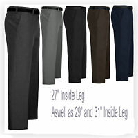 "Mens Formal Work Casual Trousers Black Grey Navy 30 to 48 ,27 29 31 "" inside leg"