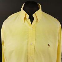 Polo Ralph Lauren Mens Vintage OXFORD Shirt 16.5 (XL) Yellow Classic Fit