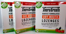 TheraBreath Lozenges TART BERRY Sugar Free Dry Mouth 24 ea (Lot of 3)