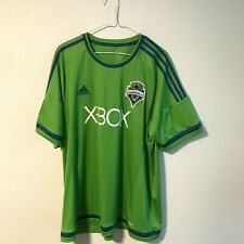 Adidas Authentic MLS Jersey Seattle Sounders Team Green Size 2XL