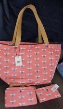 Fossil Womens Pink Multi Keyper EW Tote Bag #ZB5758664 , Wristlet & Coin Purse