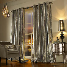 Kylie Minogue Iliana Praline Lined Velvet Ring Top Curtains Drapes *5  Sizes* 90x90
