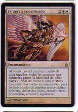 MTG SPANISH FOIL RAVNICA CONCERTED EFFORT EX+ MAGIC THE GATHERING CARD WHITE
