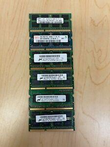 6 x 2GB Samsung Nanya M471B5673FH0-CF8 SODIMM PC3-8500S DDR3-1066MHz Laptop RAM