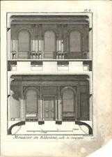 Stampa antica LAVORAZIONE LEGNO Pl 8 Enciclopedia Diderot 1790 Old antique print