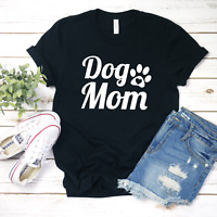 Dog Mom T Shirt Cute Paw Print Dog Mama Animal Lover Graphic Fur Mama Gift
