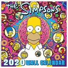 The Simpsons 2020 Calendar - Official Square Wall Format Calendar NEW