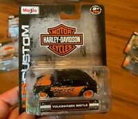 Maisto 1-64 Scale Harley-Davidson Volkswagen Beetle