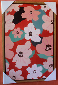 Gorgeous Abstract  Flower Design on Framed  Canvas   BRAND NEW