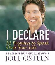 I Declare: 31 Promises to Speak Over Your Life by Joel Osteen Hardcover Book (En