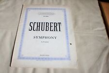 Schubert symphony in B minor piano solo - Augener's Edition