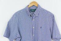 Ralph lauren Check Shirt Classic Fit Men Short Sleeve Size L