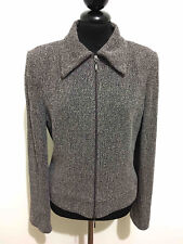 LUISA SPAGNOLI Giacca Donna Lana Sale Pepe Wool Woman Jacket Blazer Sz.S - 42