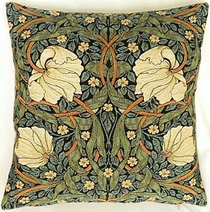 """WILLIAM MORRIS PIMPERNELL BELGIAN TAPESTRY CUSHION COVER, 18"""" X 18"""" (47CM) 10238"""