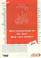 Original Advertising' American Aua Austrian Airlines Company Aerial New Ruler
