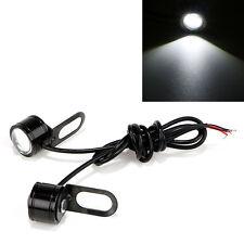 Pair White Motorcycle LED DRL Daytime Running Fog Light Reverse Backup Tail Lamp