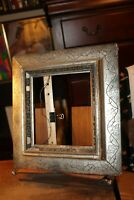 "Antique Silver Gilt Ornate Picture Frame 8-1/2"" x 7-1/2"""