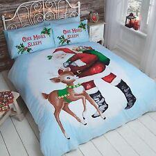 ONE MORE SLEEP SINGLE DUVET COVER SET CHRISTMAS BEDDING SANTA REINDEER NEW