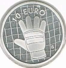 Spanje 10 euro 2002 Proof zilver PP: WK Voetbal / Handschoen / Keeper