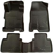 2012-2013 Honda Civic 4-Door Black Husky Liners WeatherBeater Floor Mats