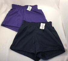 Alleson Youth Girls Athletic Cheer Shorts Play Shorts 2 Pair Size Large L NWT