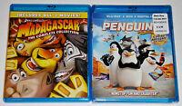 Kid Blu-ray Lot - Madagascar Trilogy (Used) Penguins of Madagascar (New)