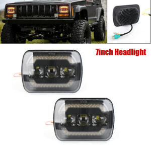7'' 12V 60W Highlight LED Projector Halo Headlights Auto Daytime Running Lamp