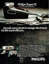 Publicité Advertising  068  1977   Philips  rasoir éléctrique super 12