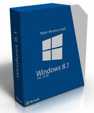 Windows 8.1 Professional 32 Bit Re-Install Restore Repair Boot Disc Recovery DVD