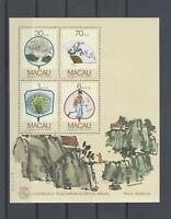 Macau 1987 Regional Fan stamps minisheet MNH