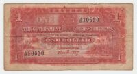 Straits Settlements 1 $ Dollar 1925 P9a gFine Palm Trees Beach First Issue Note