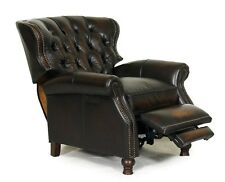 NEW Barcalounger Presidential II Stetson Coffee Leather Manual Recliner Chair