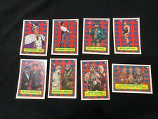 WWF 1987 Topps Sticker Lot of 8 with Near Complete Hulk Hogan Puzzle