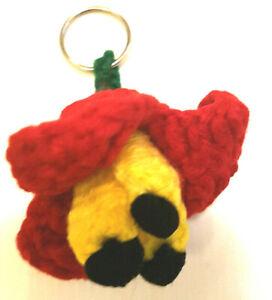 Crochet Ackee Jamaica Handmade Keyring