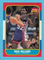 1986-87 Fleer Basketball Buck Williams # 123 New Jersey Nets