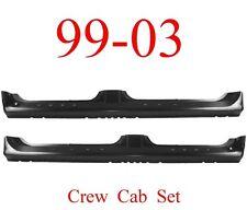 99 03 Ford Crew Cab Extended Rocker Set, 4 Door, F150 Super Crew Truck, Both L&R
