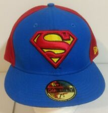 "New Era Superman Logo Blue and Red Baseball Cap Size 7 5/8"" with Sticker"