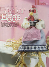 KNITTING PATTERN Alan Dart Easter Eggs Folk Mother Hen & Chicks Toy 28cm PATTERN
