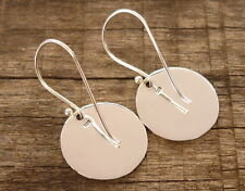 New Disc Round Earrings 925 sterling silver Dangle Drop 16 mm Fashion Women Gift