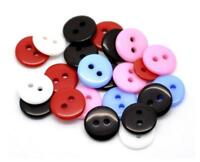 25PCS Resin Round Two Hole Flat Buttons Shirt Sewing DIY Black White 11MM/18L