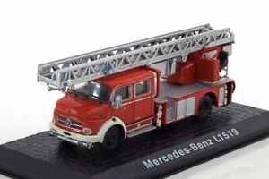 Atlas Fire Engines Mercedes Benz L1519 1/72 Diecast Metal