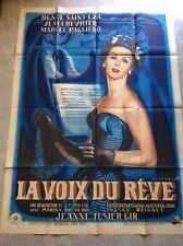 """Affiche """"La Voix du Rêve"""" Litho René Péron (EO 1948) Saint Cyr, Paulin, Chevrier"""