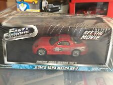 Greenlight Mazda RX-7, Dom, Fast And Furious 1:43 Diecast Model