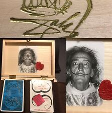 Wooden 2nd Edition 1969 Salvador Dali Draeger Surrealist Playing Cards & Signet
