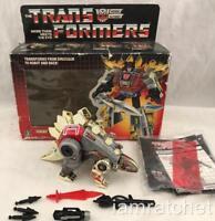 Transformers Original G1 1985 Dinobot Snarl Complete w/ TM Series 1 art Box
